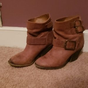 Lucky Brand brown leather boots 7.5 us